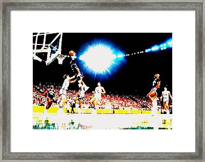 Patrick Ewing Nasty Slam  Framed Print by Brian Reaves