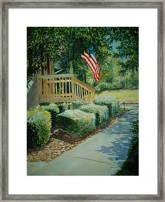 Patriot Next Door Framed Print by Shirley Braithwaite Hunt