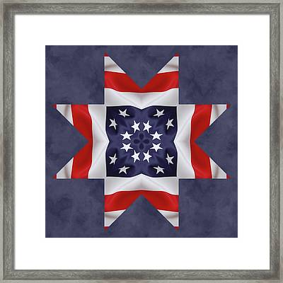 Patriotic Star 2 Framed Print by Jeff Kolker