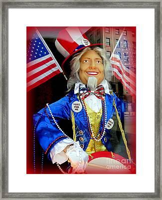 Patriotic Hillary Framed Print by Ed Weidman