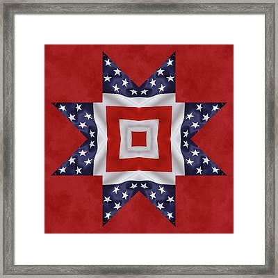 Patriotic Star 1 Framed Print by Jeff Kolker