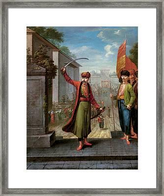 Patrona Halil Framed Print by Jean Baptiste Vanmour