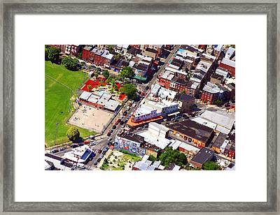 Pats King Of Steaks And Genos Steaks South Philadelphia 4542 Framed Print by Duncan Pearson