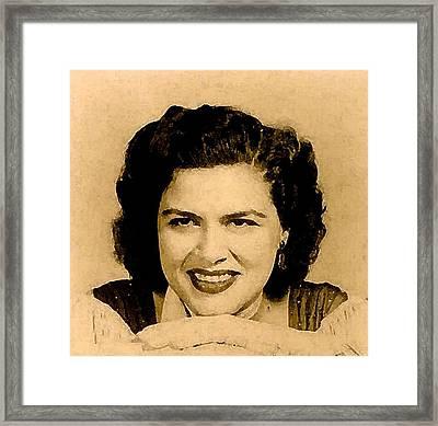 Patsy Cline Framed Print by Jeff DOttavio