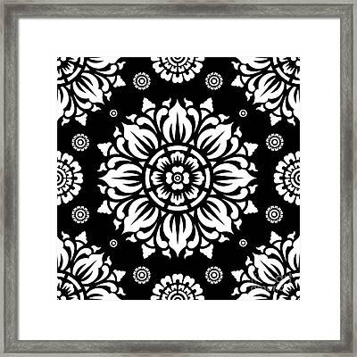 Pattern Art 01-1 Framed Print by Bobbi Freelance