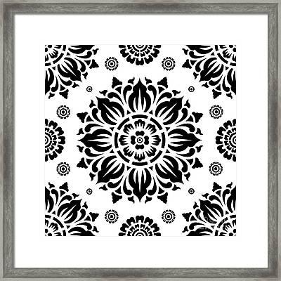 Pattern Art 01-2 Framed Print by Bobbi Freelance