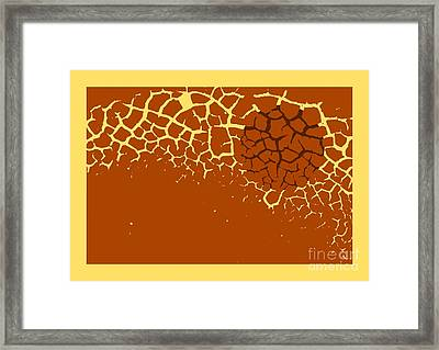 Pattern In Cocoa Framed Print by Sverre Andreas Fekjan