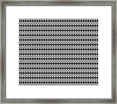 Pattern Of Black, Gray, And White Framed Print by Gina Lee Manley