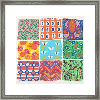 Pattern Panel Framed Print by Mollie Draws