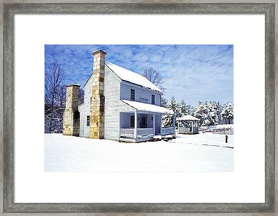 Patterson House Carnifax Ferry Battlefield Framed Print by Thomas R Fletcher