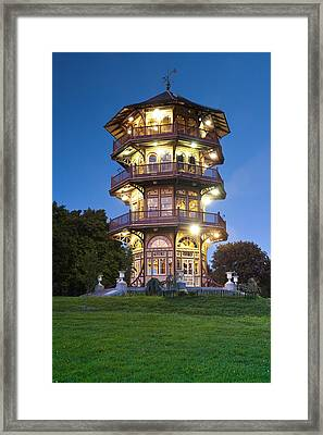 Patterson Park Pagoda. Baltimore Maryland  Framed Print by Matthew Saindon