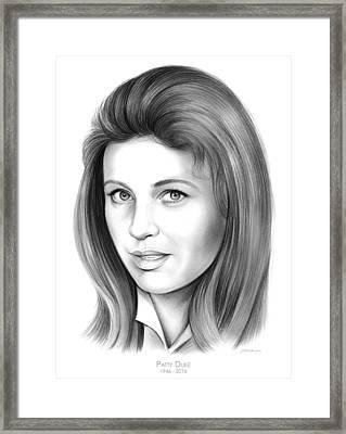 Patty Duke Framed Print by Greg Joens