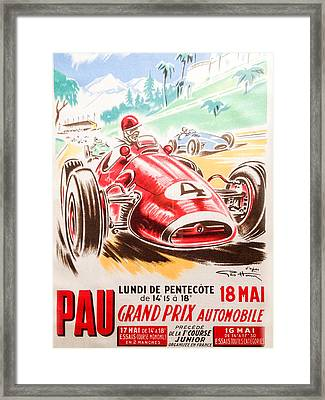 Pau Grand Prix 1959 Framed Print by Georgia Fowler