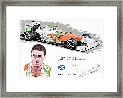 Paul Di Resta 2011 Framed Print by Karl Hamilton-Cox