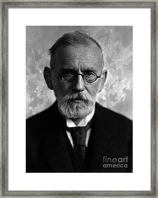Paul Ehrlich, German Immunologist Framed Print by Science Source