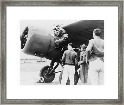 Paul Mantz, Stunt Pilot And Air Racer Framed Print by Everett