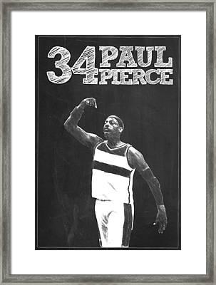 Paul Pierce Framed Print by Semih Yurdabak