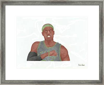 Paul Pierce  Framed Print by Toni Jaso