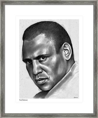 Paul Robeson Framed Print by Greg Joens