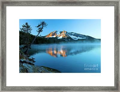 Paulina Peak In Paulina Lake Framed Print by Adam Jewell