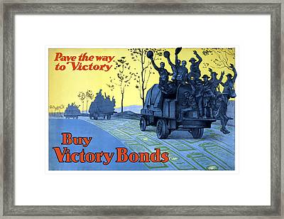 Pave The Way To Victory Framed Print by War Is Hell Store