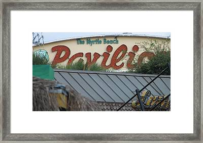 Pavilion Chaos Framed Print by Kelly Mezzapelle