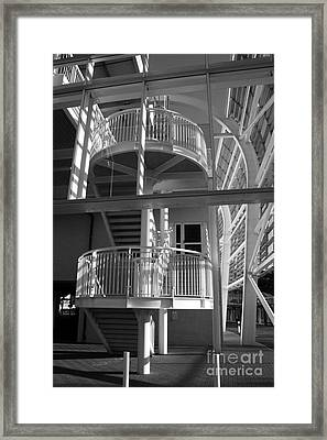 Pavilion Stairs At The Ageas Rose Bowl Framed Print by Terri Waters