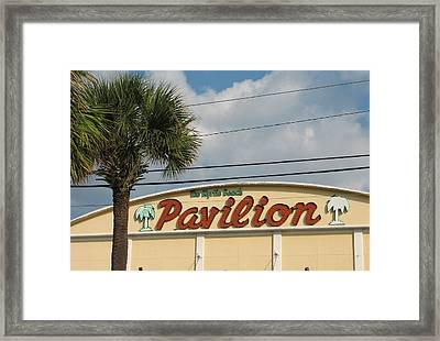 Pavilion With Palm Framed Print by Kelly Mezzapelle