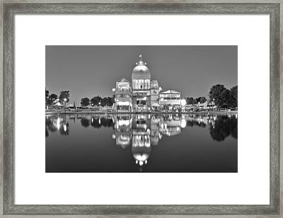 Bonsecours Pavilion In Black And White Framed Print by Marc Daneau