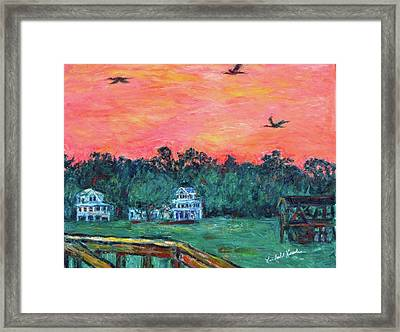 Pawleys Eve  Framed Print by Kendall Kessler