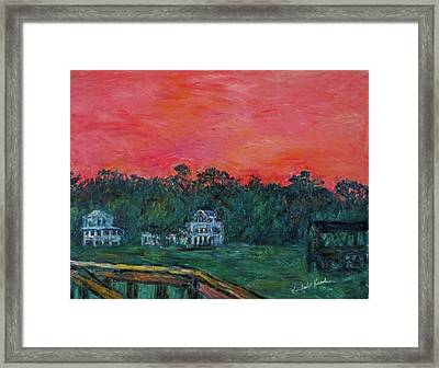 Pawleys Eve Stage Two Framed Print by Kendall Kessler