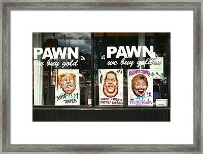 Pawn Shop Humor Framed Print by Allen Beatty