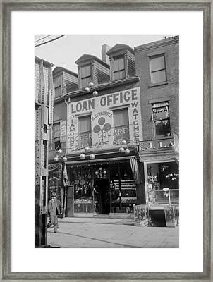 Pawn Shop, Photograph, 1900s-1930s Framed Print by Everett