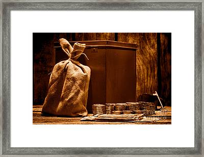 Pay Day - Sepia Framed Print by Olivier Le Queinec