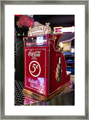 Pay Here Framed Print by Jon Berghoff
