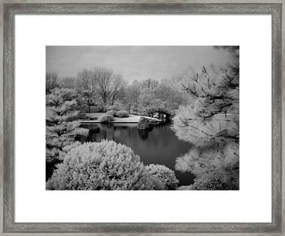 Peace And Harmony Bridge Framed Print by Jane Linders