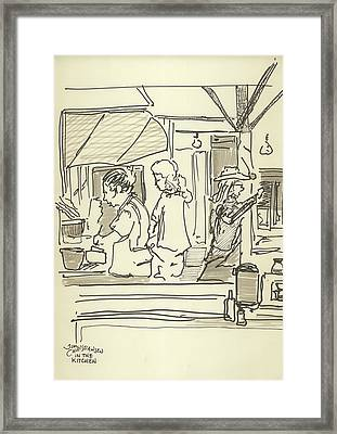 Peace Camp Saturday Kitchen Crew Framed Print by James Christiansen