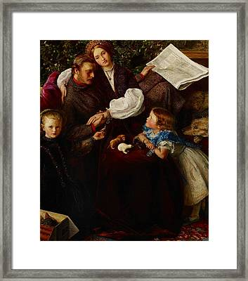 Peace Concluded Framed Print by Sir John Everett Millais