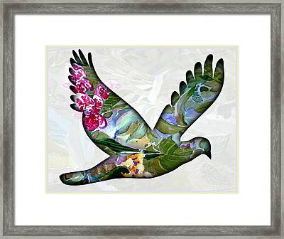Peace For Peace Framed Print by Mindy Newman