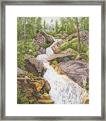 Peace In The Sierras Framed Print by Santiago Chavez