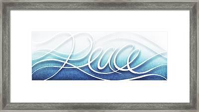 Peace Like A River Framed Print by Shevon Johnson