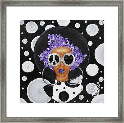 Peace, Love, Polka Dots Framed Print by Aliya Michelle