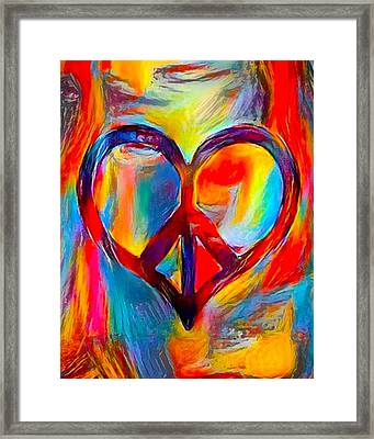 Peace Of My Heart - Multi Framed Print by Artistic Mystic