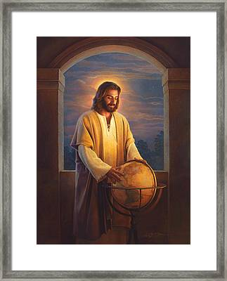 Peace On Earth Framed Print by Greg Olsen