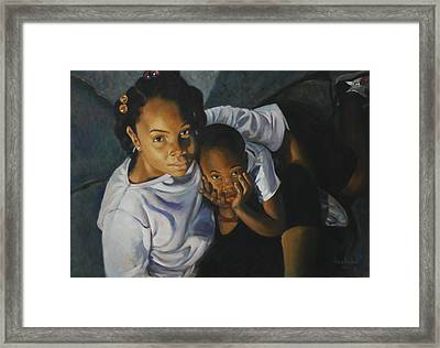 Peace Sign Framed Print by Harvie Brown