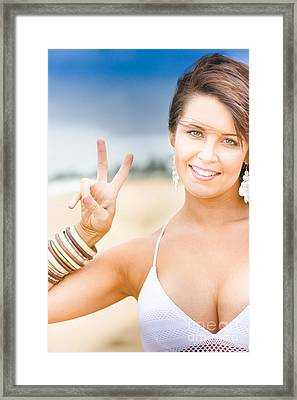 Peace Sign Framed Print by Jorgo Photography - Wall Art Gallery