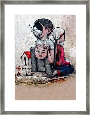 Malland Peace With Justice Framed Print by Munir Alawi