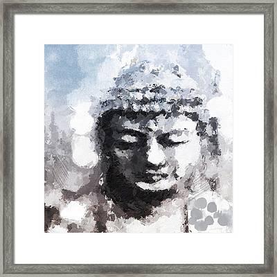 Peaceful Buddha- Art By Linda Woods Framed Print by Linda Woods