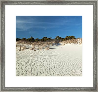 Peaceful Cape Cod Framed Print by Michelle Wiarda