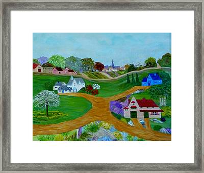 Peaceful Country Lanes Framed Print by Anke Wheeler